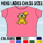 CUTE CARTOON CAT KITTEN T-SHIRT ALL SIZES & COLOURS